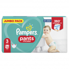 AUTIŅBIKSĪTES PAMPERS PANTS S3 6-11KG  60GB JP  !!