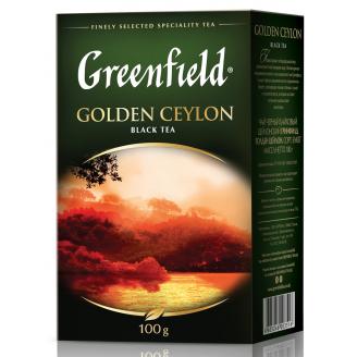 TĒJA GREENFIELD MELNĀ  GOLDEN CEYLON 100G