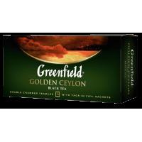 TĒJA GREENFIELD GOLDEN CEYLON MELNĀ 2G*25