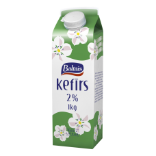 KEFĪRS BALTAIS 2% 1L