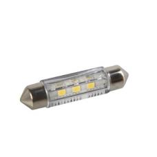 AUTOSPULDZES LED BALTAS SV8.5 3 SMD 41MM 2GAB