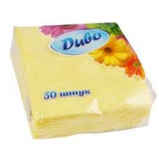 SALVETES DUBO DZELTENAS 25X25CM 50GAB.