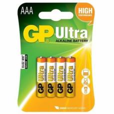 BATERIJAS GP ULTRA ALKALINE LR3GP  AAA 4GAB.