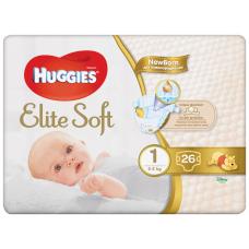 AUTIŅBIKSĪTES HUGGIES ELITE SOFT 1 2-5KG 26GAB.