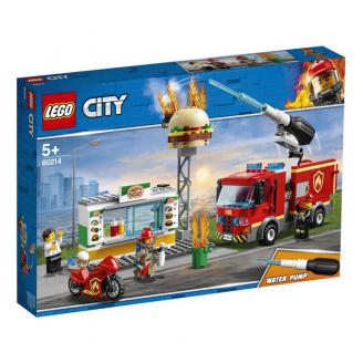 LEGO CITY FIRE UGUNSGRĒKS BURGERU KAFEJNĪCĀ 60214