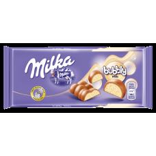 BALTĀ ŠOKOLĀDE MILKA BUBBLY WHITE 95G